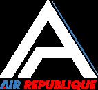 logo air republique bleu blanc rouge