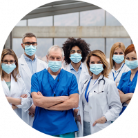 équipe médicale masque